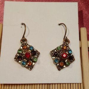 Colorful Rainbow Rhinestone Boho Fashion Earrings